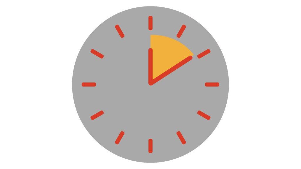 Short Term Aluminium Clock